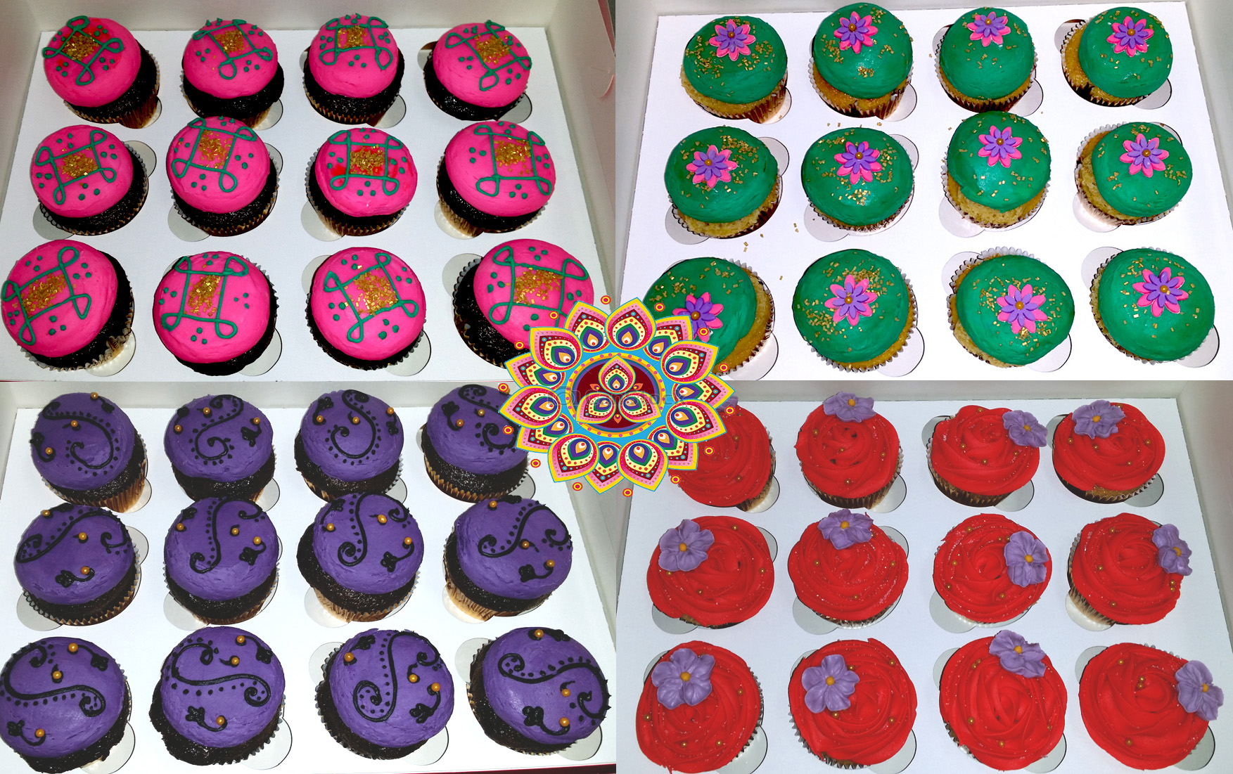 Bollywood Cuppies Collage