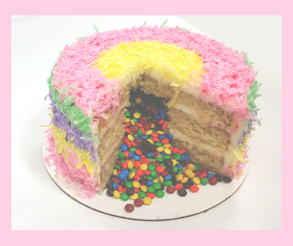 Cuppies Pinata Cake CUT Pink Frame 2