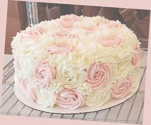 Two Tone Rosette Cake 2
