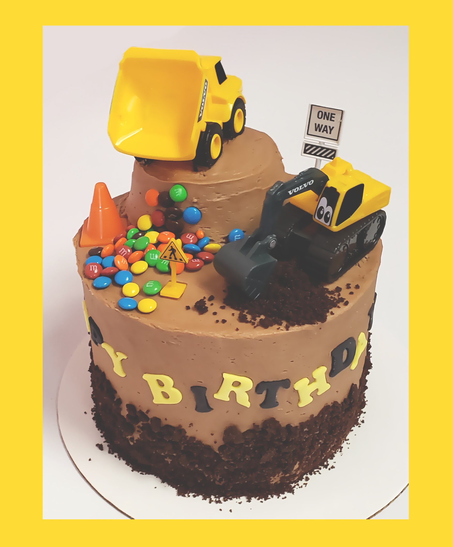 Construction Cake 2020 Framed