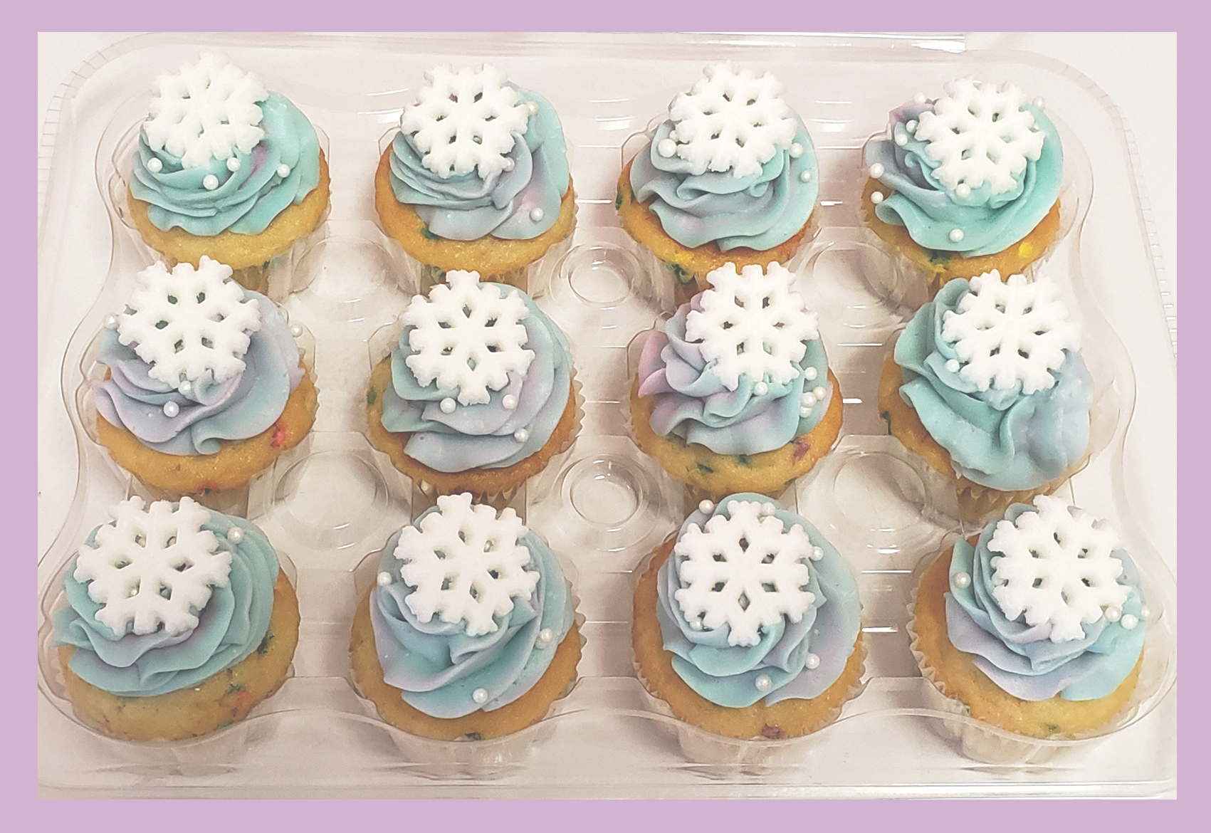 Frozen Theme Watercolor Cupcakes
