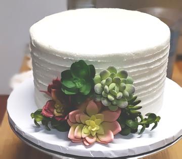Succulent Wedding Cake bottom tier