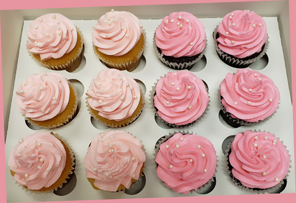 pretty pink cuppies
