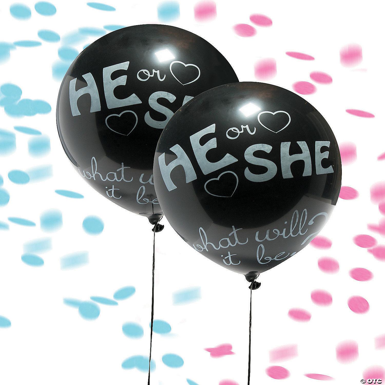 JUMBO Gender Reveal Confetti Balloon
