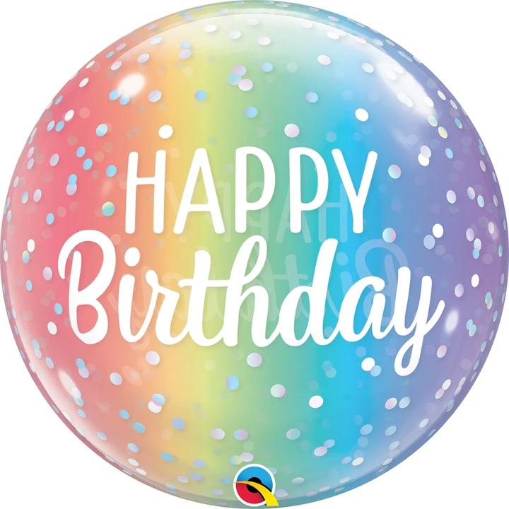 LARGE Rainbow Birthday Balloon