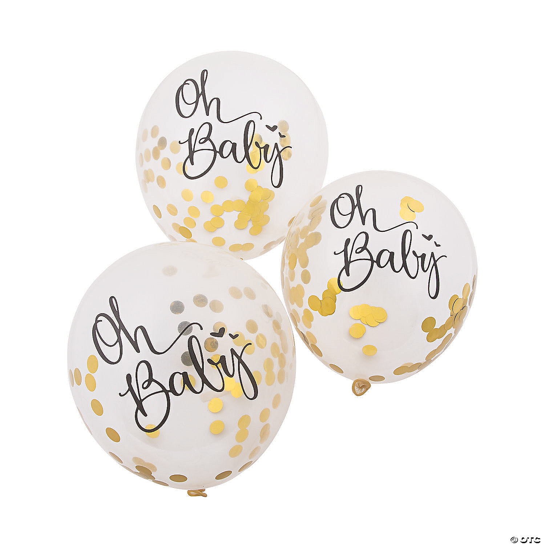 Oh Baby Confetti Balloon