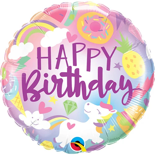 Unicorn Celebration Mylar Birthday Balloon